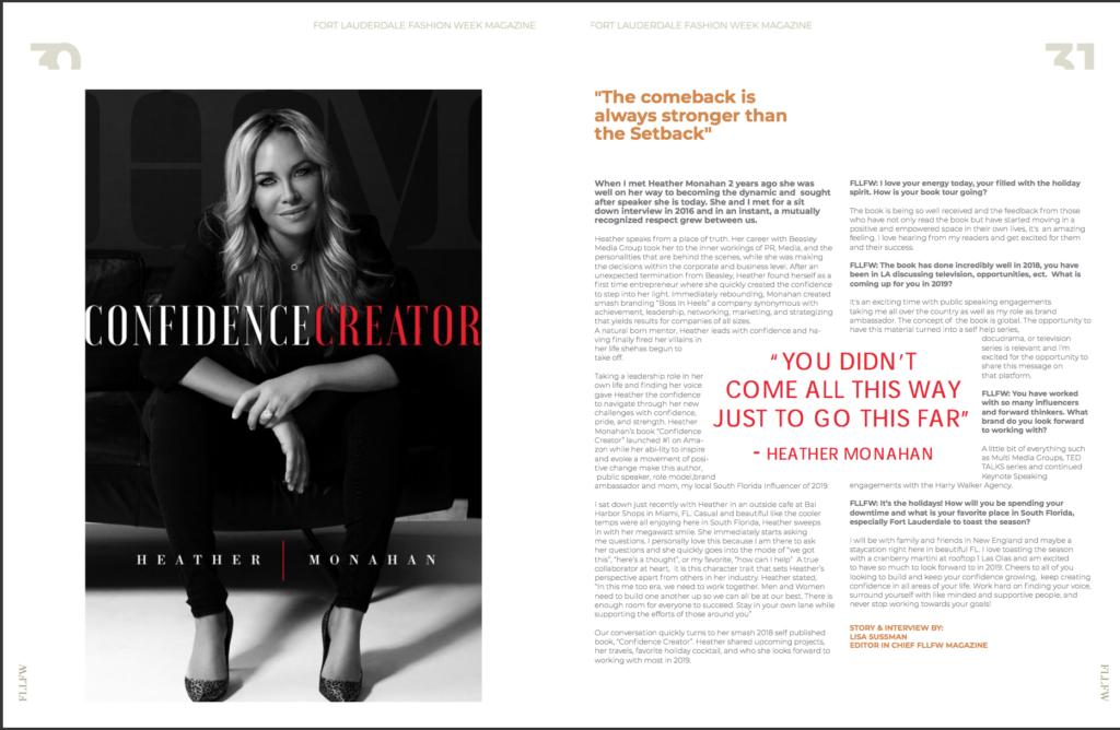 Fort Lauderdale Fashion Week Magazine - Confidence Creator